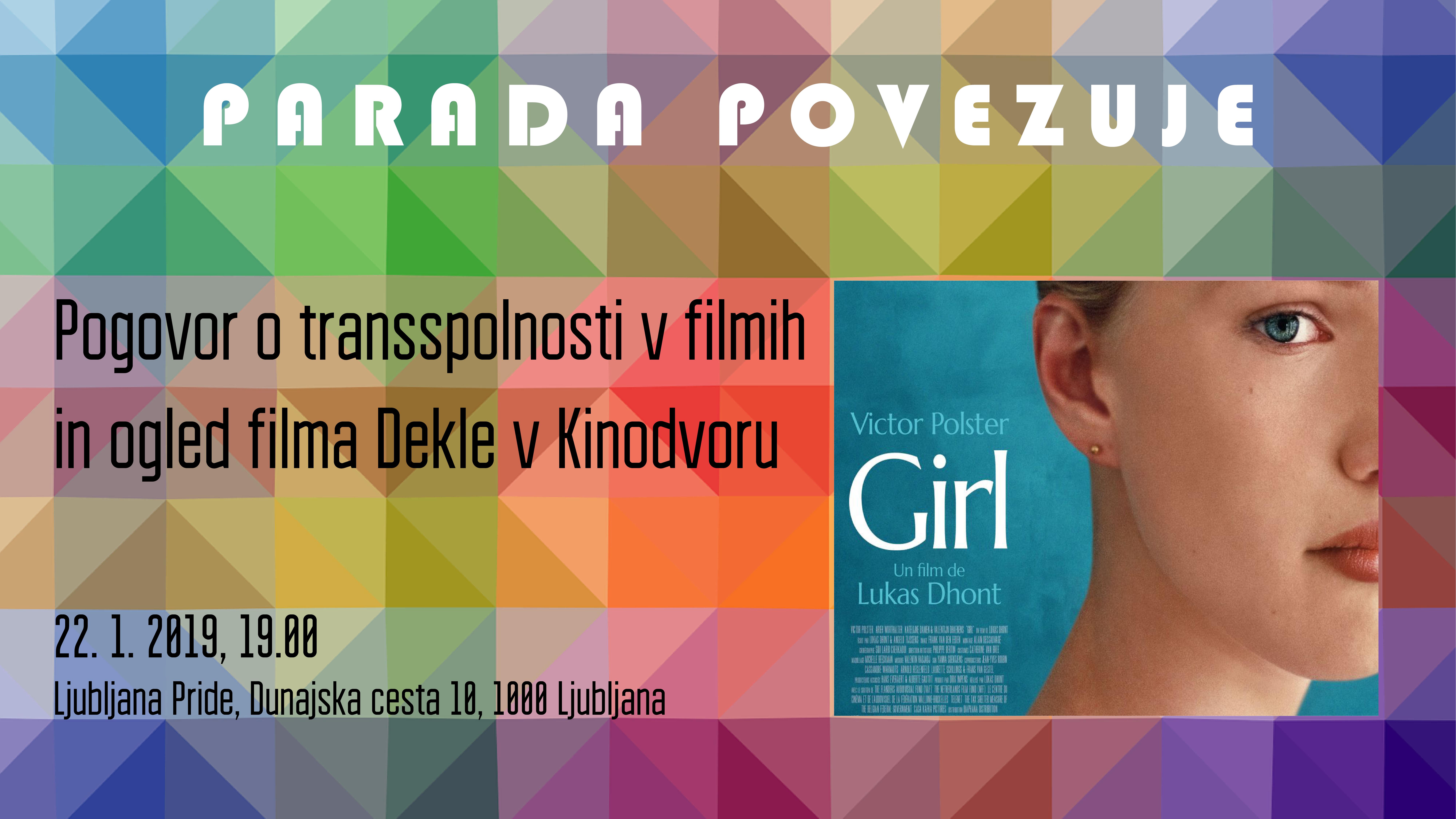 Pogovor o transspolnosti v filmih in ogled filma Dekle v Kinodvoru