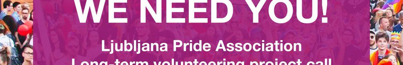 Ljubljana Pride Association Long-term volunteering project call